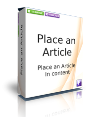 Place an Article for Joomla!